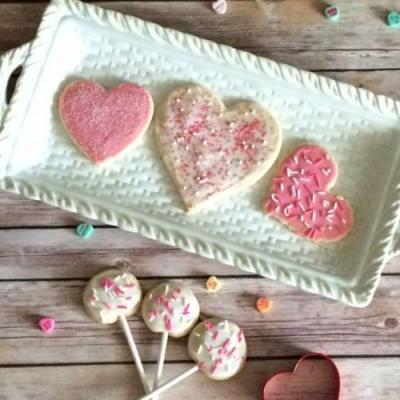 Valentine Cut-Out Sugar Cookies