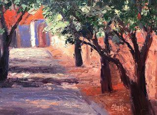 Alley View, New Contemporary Landscape Painting by Sheri Jones