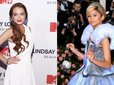 Lindsay Lohan's Comment Shading Zendaya's Met Gala Cinderella Dress Is ~Mean Girl~ Behavior