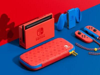 The Mario Red & Blue edition of Nintendo Switch has a few extras packed in