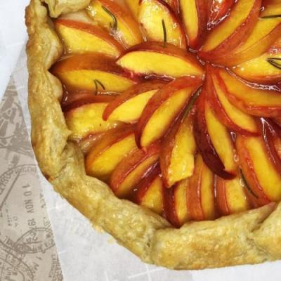 Peach, Rosemary And Lime Galette