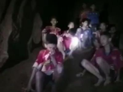 The Thai boys were in the dark for so long that they had to wear protective sunglasses once they got out of the cave