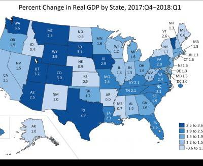 Gross Domestic Product by State, 1st quarter 2018
