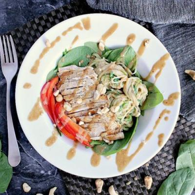 Low Carb Thai Salad with Chicken
