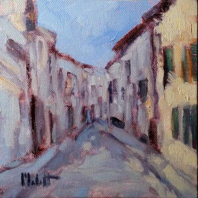 Contemporary Impressionism Streets of Italy Original Oil Painting