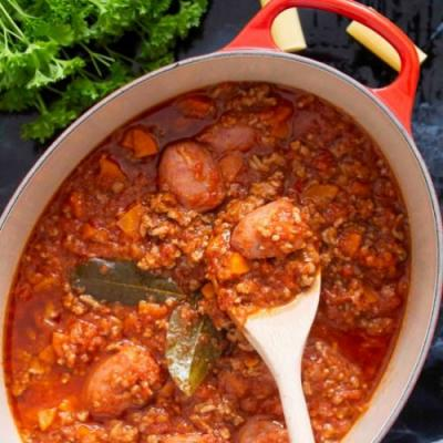 Calabrese-Style Meat Sauce