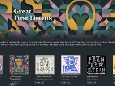 Apple Shares Six Free Classic Audiobooks Narrated by Celebrities