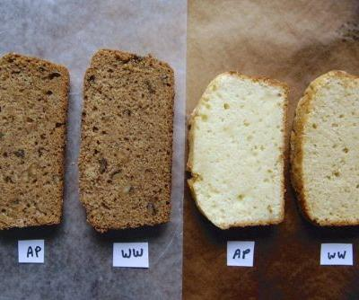 How to use whole wheat flour in quick breads