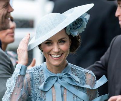Kate Middleton stuns in sheer blue Elie Saab at 2019 Royal Ascot