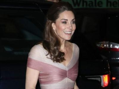 The Duchess of Cambridge Is Pretty in Pink Wearing Gucci