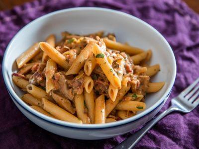 Penne Boscaiola (Woodsman-Style Pasta With Mushrooms and Bacon)