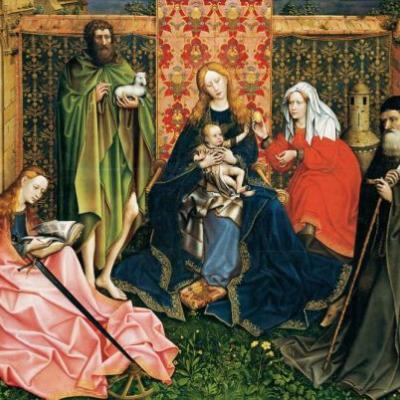 Madonnas attributed to Master of Flémalle or Robert Campin 1375-1444