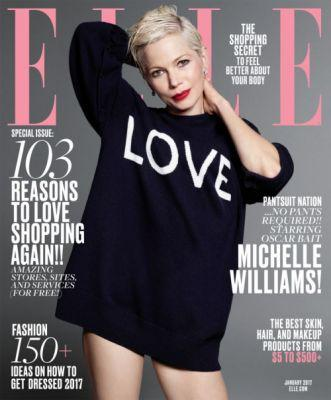 Michelle Williams for ELLE January 2017 In ELLE's January