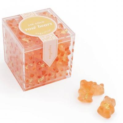 These 24-Karat Gold Rose Gummy Bears By Sugarfina Are Almost Too Pretty To Eat