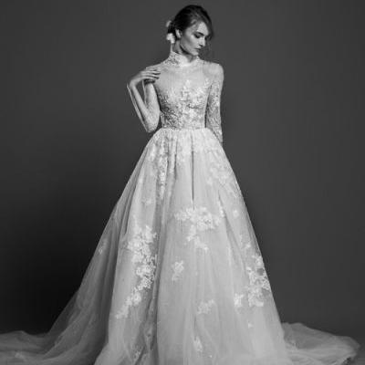 You are the canvas for this gorgeous, embroidered tulle