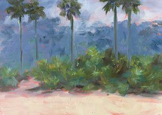 5-Day Challenge, 20-Minute Painting, Day 2: Old Florida, 5x7 Oil on Panel