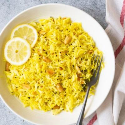 Lemon Rice in Instant Pot