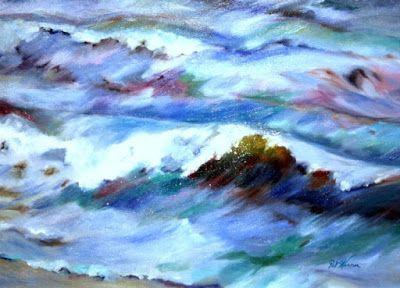 "Contemporary Seascape Painting ""Waved"" by Georgia Artist Pat Warren"
