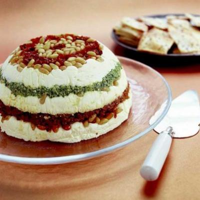 Ruth Pretty's Ricotta and Pesto Torte
