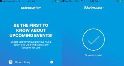 Ticketmaster App Updated With Apple Music Integration to Track Concerts