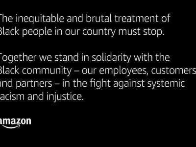 Amazon tweeted an extraordinary statement about the 'inequitable and brutal treatment of Black people' in support of George Floyd protesters