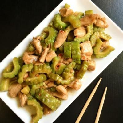 Chicken and Bittergourd Stirfry