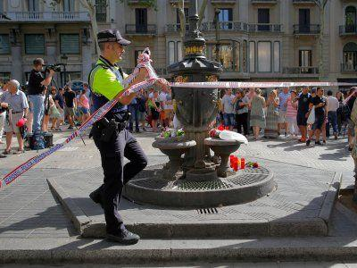 People are defiantly going about their business in Barcelona as Spain mourns terror attacks