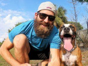 Former NFL Player Travels The US With Newly Adopted Dog In Tow