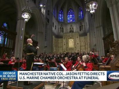Manchester native directs Marine Chamber Orchestra at George H.W. Bush's funeral