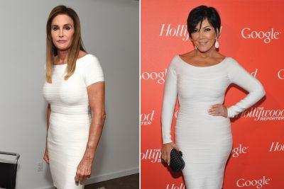 Caitlyn and Kris Jenner wore the same dress