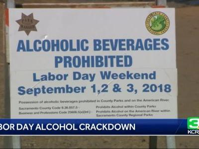 Officials strictly enforce alcohol ban on American River for Labor Day