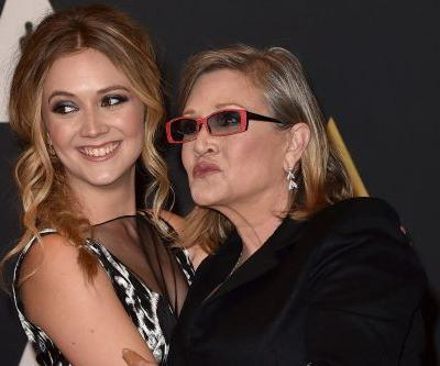 Billie Lourd to Carrie Fisher one year after death: 'I love you times infinity'
