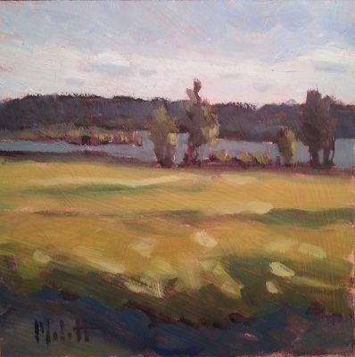 Lake Art Summertime Landscape Original Oil Painting Art for Sale