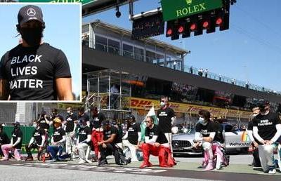 United against racism: But Formula 1's racers were noticeably DIVIDED over taking a knee before Austrian Grand Prix