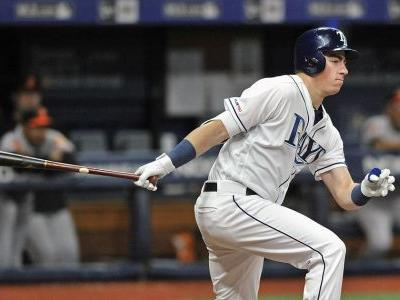 2-way McKay goes 0 for 4 in MLB hitting debut with Rays