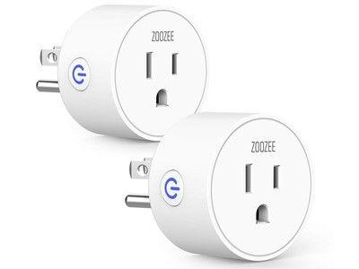 This 2-pack of Zoozee mini smart plugs is on sale for $15