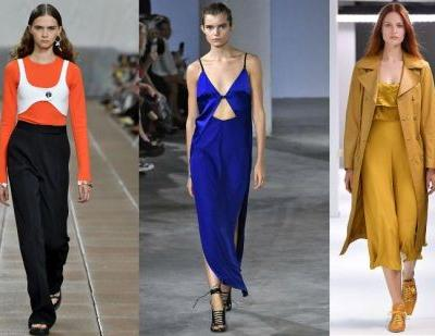 """Spotted on the NYFW catwalk: Pantone's """"empowering"""" colors"""