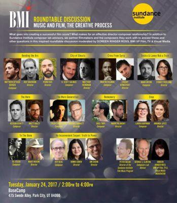 Events: 19th Annual Composer/Director Roundtable Sundance: Park City, UT