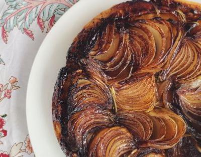 Tonight's dinner: Onion tarte tatin