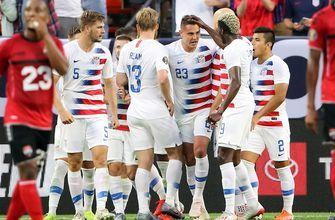 Aaron Long heads in cross from Christian Pulisic to give USMNT 1-0 lead | 2019 CONCACAF Gold Cup