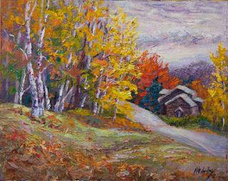 """""""Autumn Hideaway"""" by Contemporary Impressionist Niki Gulley"""