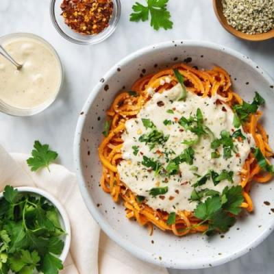 Sweet Potato Noodles & Alfredo