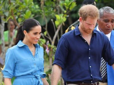 Was Meghan Markle Dropping Hints? She Wore *A Lot* of Blue During Her Pregnancy