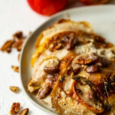Apple Pecan Roast Chicken