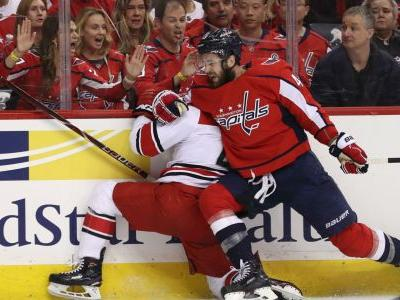 NHL playoffs 2019: Tom Wilson delivers borderline hit in Caps' Game 5 blowout win