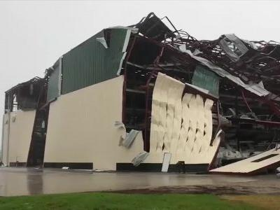 Boat warehouse torn apart by Hurricane Michael