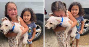 Little Girl Can't Stop Crying Tears Of Joy When Her Lost Dog Is Finally Found