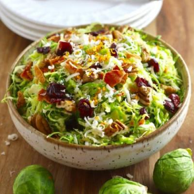 Brussels Sprout Salad with Dressing