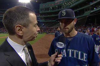 Jon Morosi talks with Mitch Haniger after his big night against the Boston Red Sox