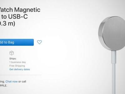 Apple now sells a USB-C charger for the Apple Watch